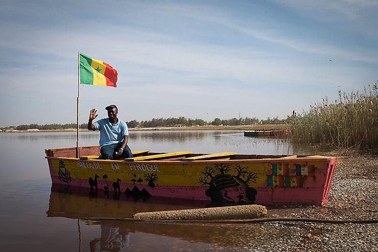 Madia sur un bateau