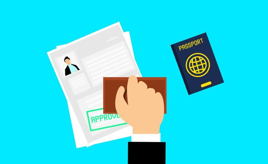 Image d'une demande de visa approuvée.