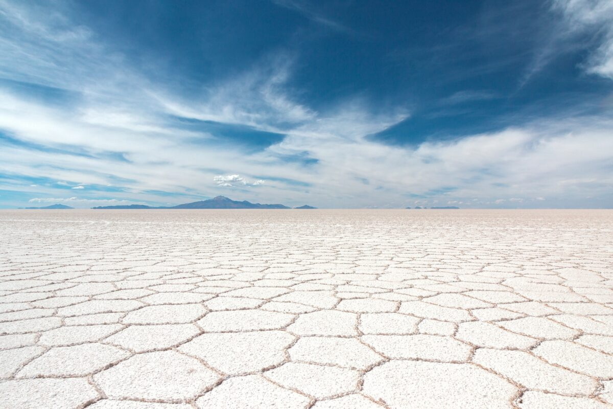Photo d'un desert de sel en Bolivie