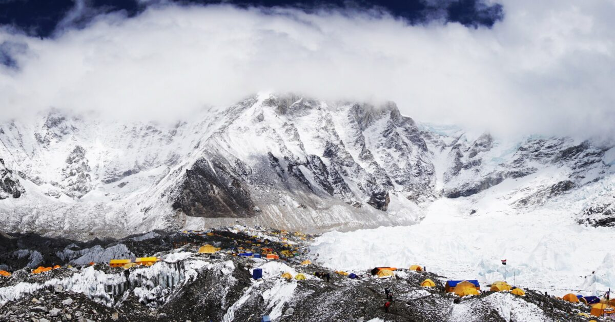 Le camp de base du Mont Everest