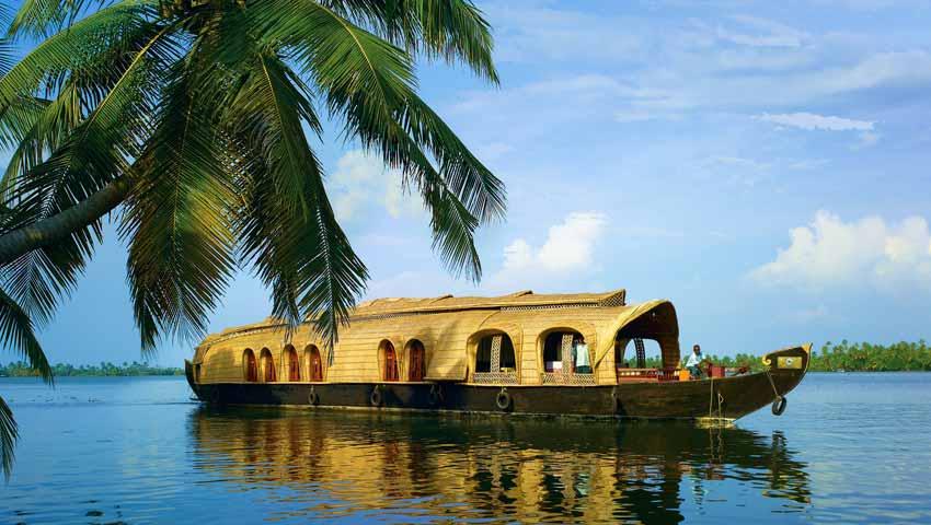 Kerala : Promenade en péniche sur les backwaters