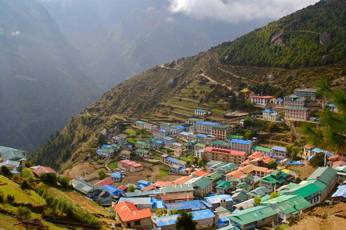 Le village de Namche rencontré lors des 3 treks