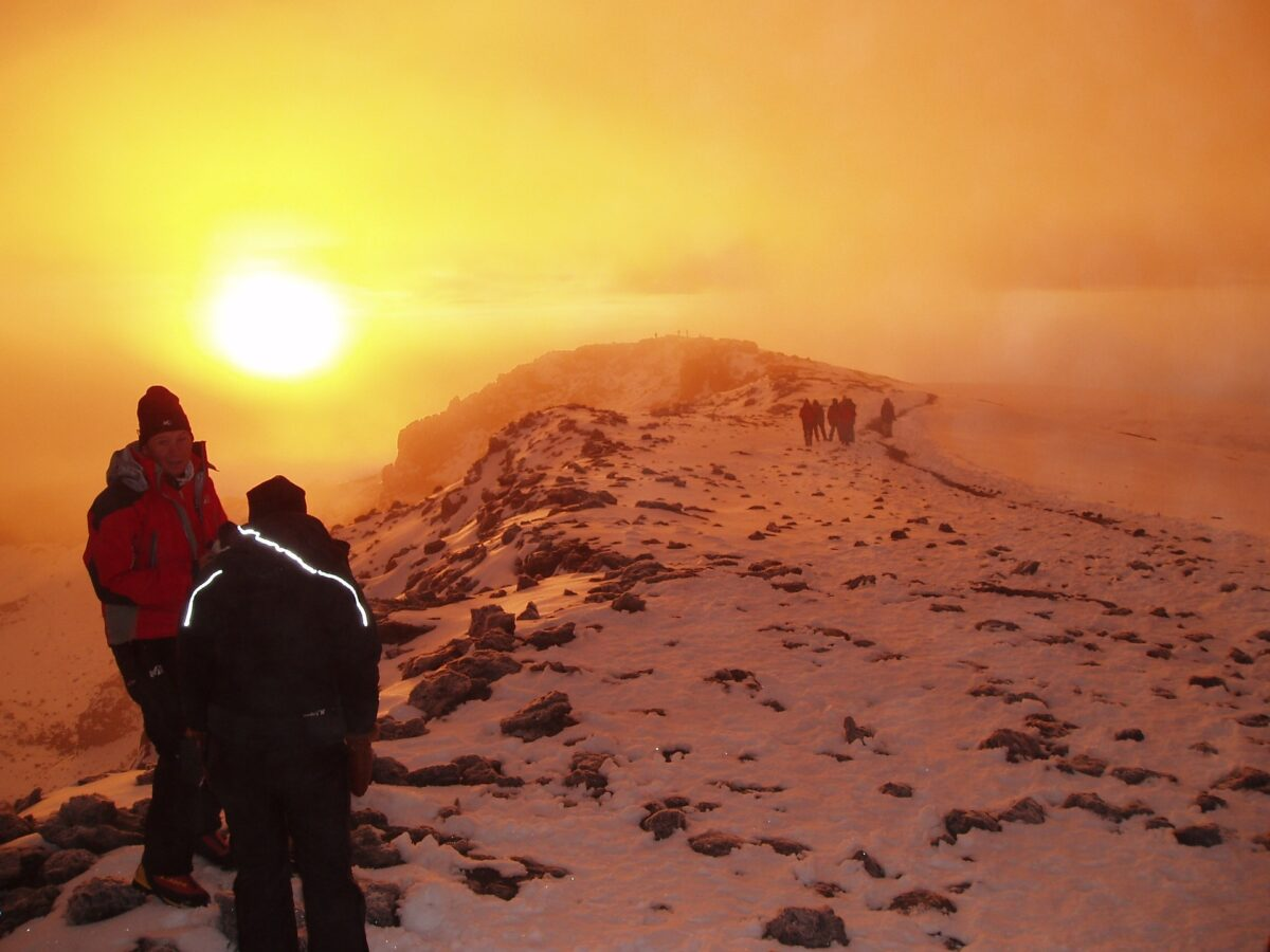 ascension du Kilimandjaro en Tanzanie.