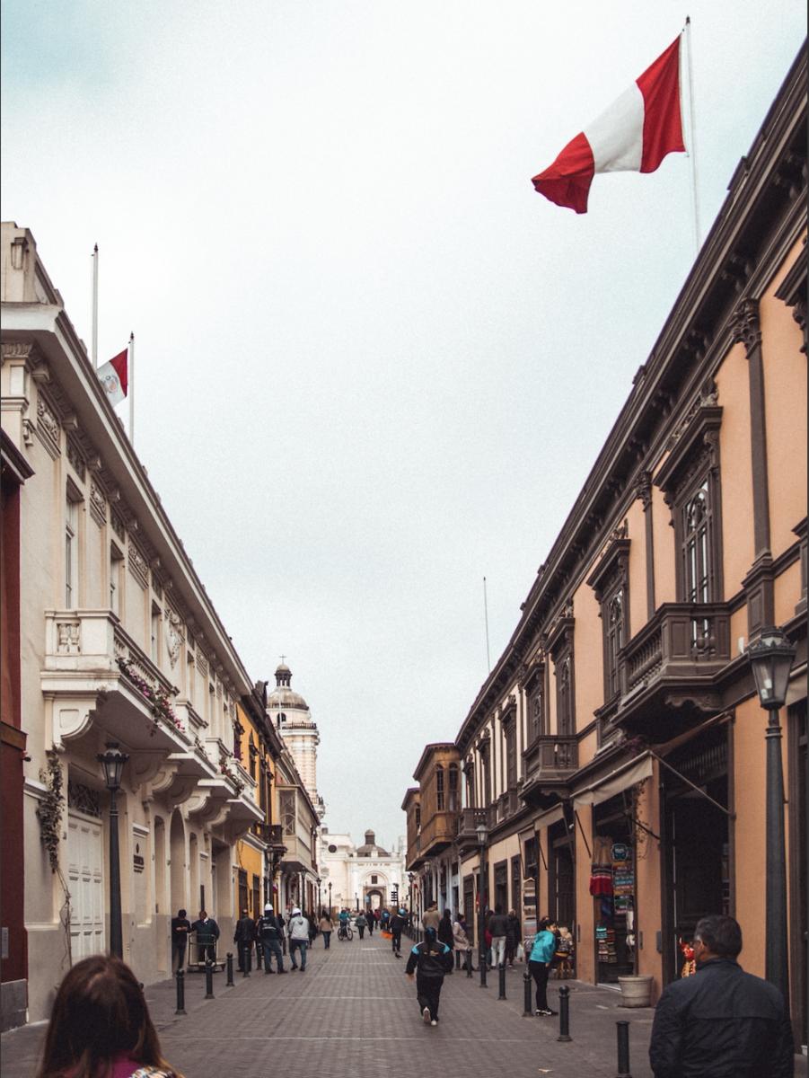 Une rue à Lima