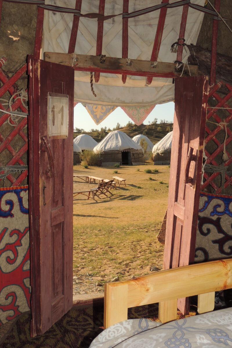 yourte avec Ismat en Ouzbékistan