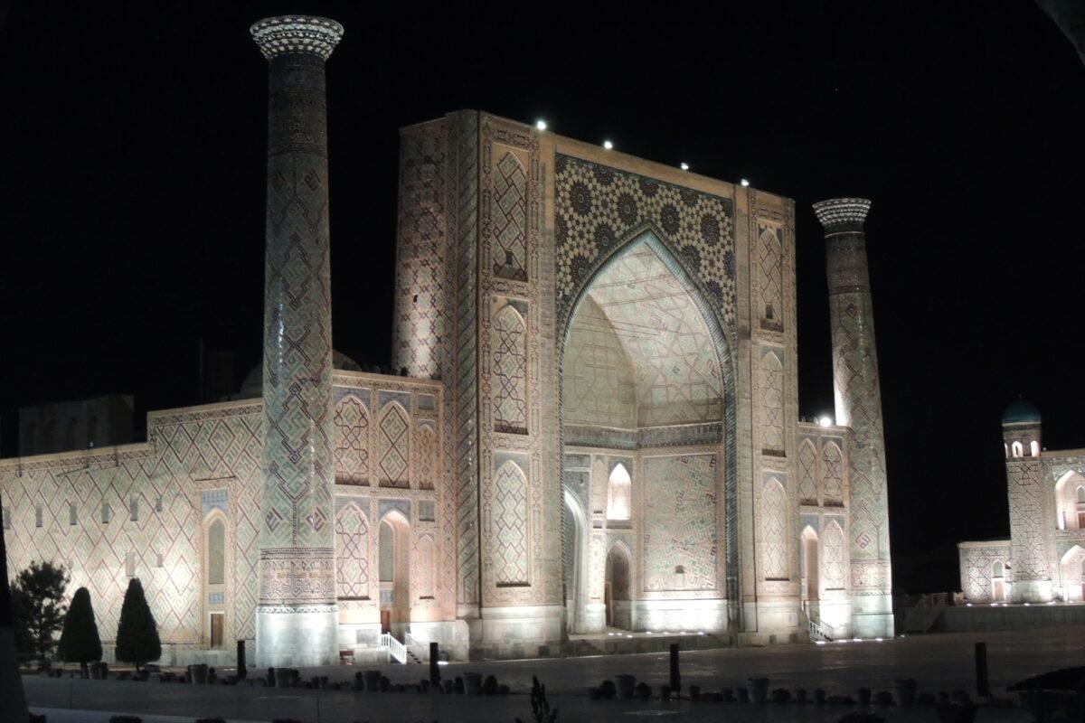 Mosquée avec Ismat en Ouzbékistan