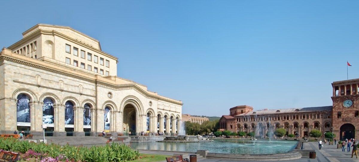 Place de la République à Erevan