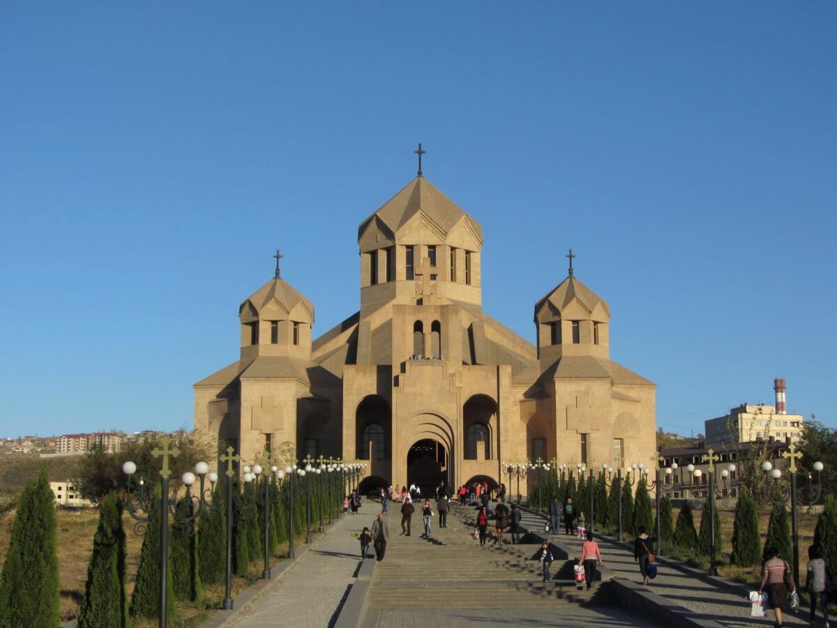 cathédrale an Arménie et ville