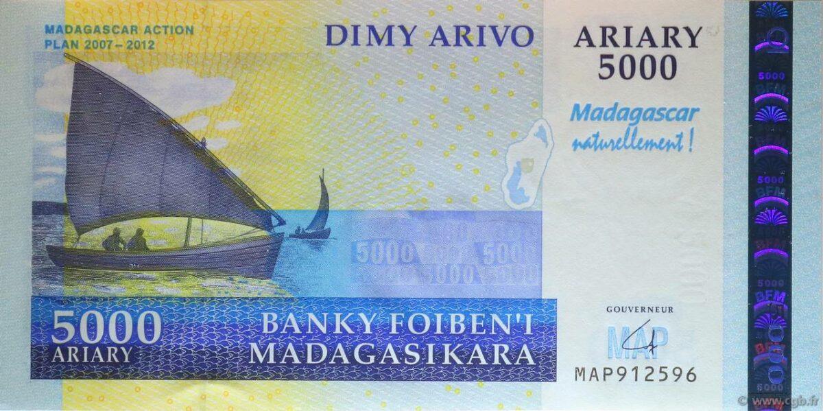 ariary monnaie locale de madagascar